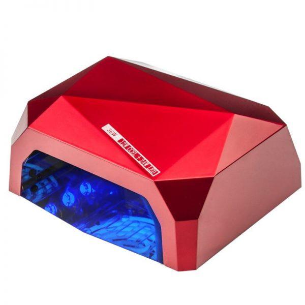 LAMPA DIAMOND 2w1 UV LED+CCFL  36W TIMER + SENSOR RED