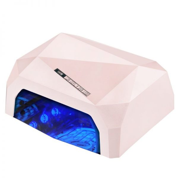 LAMPA DIAMOND 2w1 UV LED+CCFL  36W TIMER + SENSOR LIGHT PINK